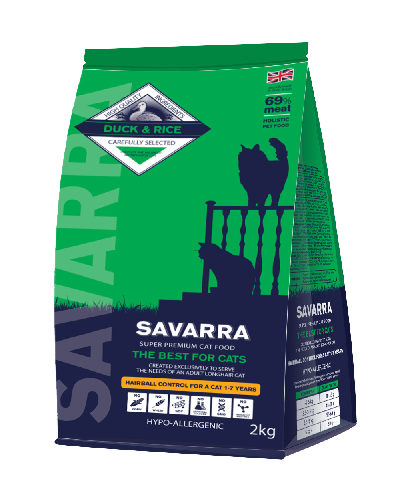 SAVARRA Adult Cat Hairball Duck/Rice