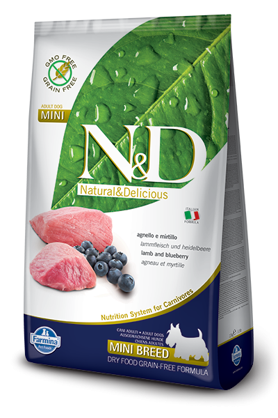 N&D Dog Lamb & Blueberry Adult Mini 2,5 кг