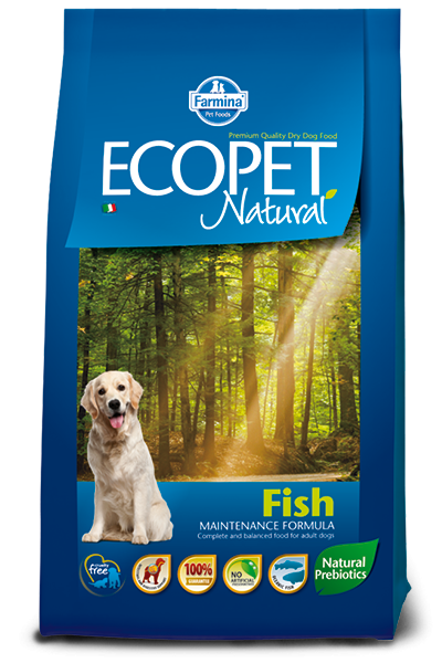 Ecopet Natural Fish Medium 12 кг