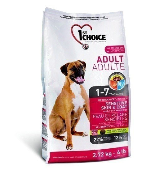 1ST CHOICE Adult Sensitive Skin & Coat All Breed 2,72 кг