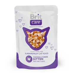 Brit Care Cat Chicken & Cheese KITTEN Pouch 80 г