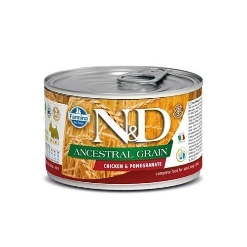 N&D Dog Ancestral Grain Chicken&Pomegranate Mini 140 г