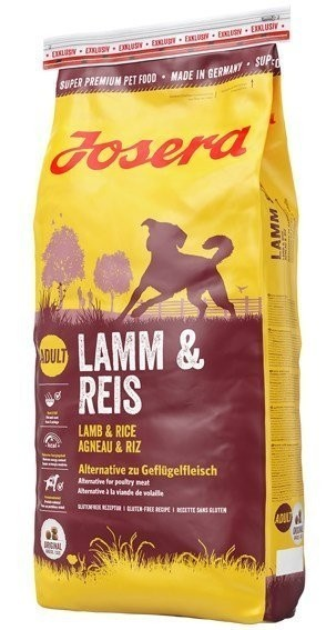 Сухой корм Josera Lamb & Rice All Breeds 15 кг для собак