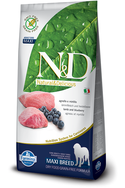 N&D Dog Lamb & Blueberry Adult Maxi 12 kg