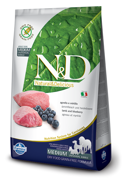 N&D Dog Lamb & Blueberry Adult Medium 12 kg