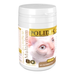 Polidex Multivitum для кошек (80 таб.)